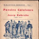 Libros antiguos: POESIES CATALANES DE JOSEP ROBREÑO (BONAVIA, 1935). Lote 141536574