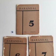 Old books: REVISTA BARANDAL NUMEROS 5 , 6 Y 7 , MÉXICO , 1931 - 1932 - POESÍA . Lote 142026970