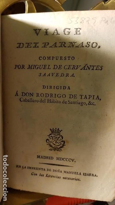 1805 - CERVANTES - VIAJE DEL PARNASO (Libros antiguos (hasta 1936), raros y curiosos - Literatura - Poesía)