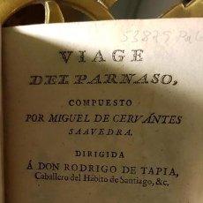 Libros antiguos: 1805 - CERVANTES - VIAJE DEL PARNASO. Lote 144909974