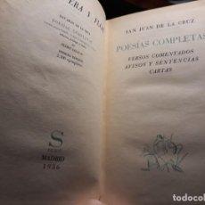 Libros antiguos: POESIAS COMPLETAS DE SAN JUAN DE LA CRUZ (PROLOGO DE PEDRO SALINAS )(1936). Lote 145379826