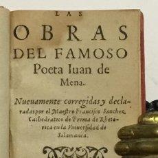 Libros antiguos: JUAN DE MENA. LAS OBRAS DEL FAMOSO POETA ... NUEVAMENTE CORREGIDAS Y DECLARADAS POR... 1582.. Lote 142425998
