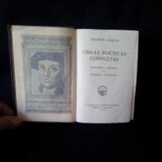 Libros antiguos: RUBEN DARIO - OBRAS POETICAS COMPLETAS - EDICCIONES AGUILAR 1932. Lote 145837698