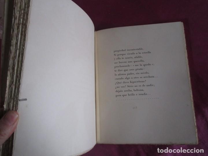 Libros antiguos: NOCHE ESTRELLADA. POEMAS. EDICION ESPECIAL DE 145 EJEMPLARES LARRAGOITI 1940. - Foto 5 - 146376094