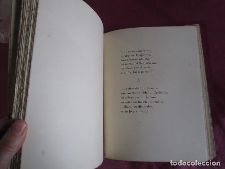 Libros antiguos: NOCHE ESTRELLADA. POEMAS. EDICION ESPECIAL DE 145 EJEMPLARES LARRAGOITI 1940. - Foto 6 - 146376094