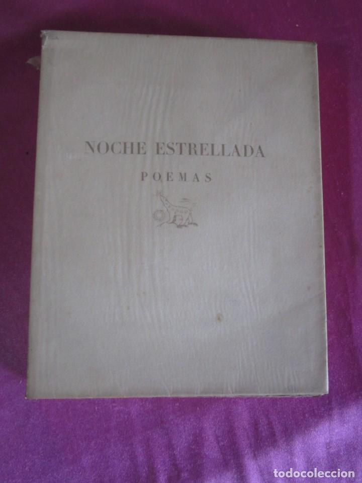 Libros antiguos: NOCHE ESTRELLADA. POEMAS. EDICION ESPECIAL DE 145 EJEMPLARES LARRAGOITI 1940. - Foto 8 - 146376094