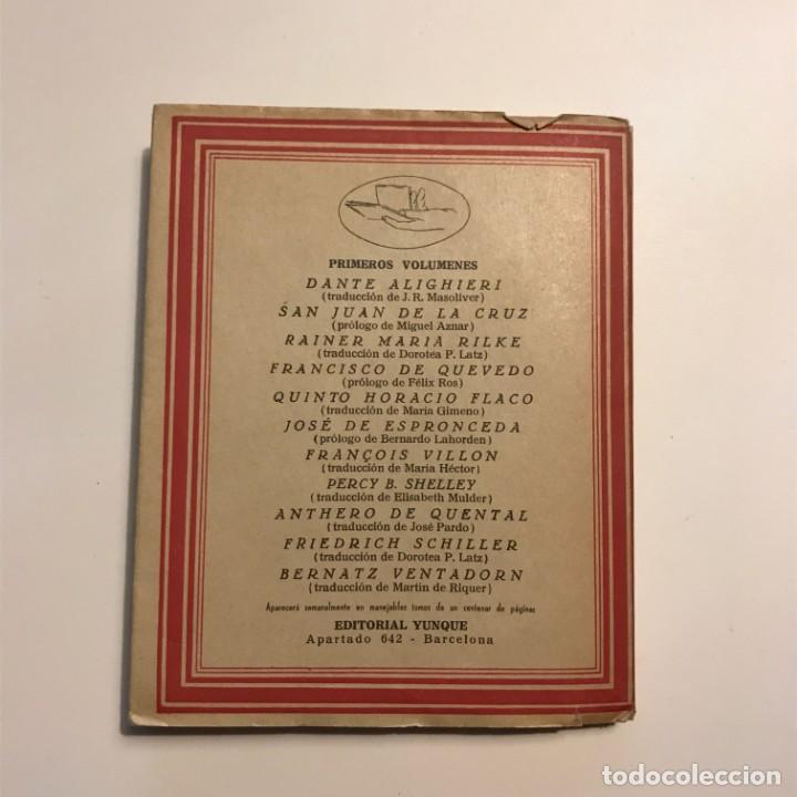 Libros antiguos: JOSE DE ESPRONCEDA. POESIA EN LA MANO NUM 6. POETAS ESPAÑOLES. EDITORIAL YUNQUE 1940 - Foto 4 - 146941466