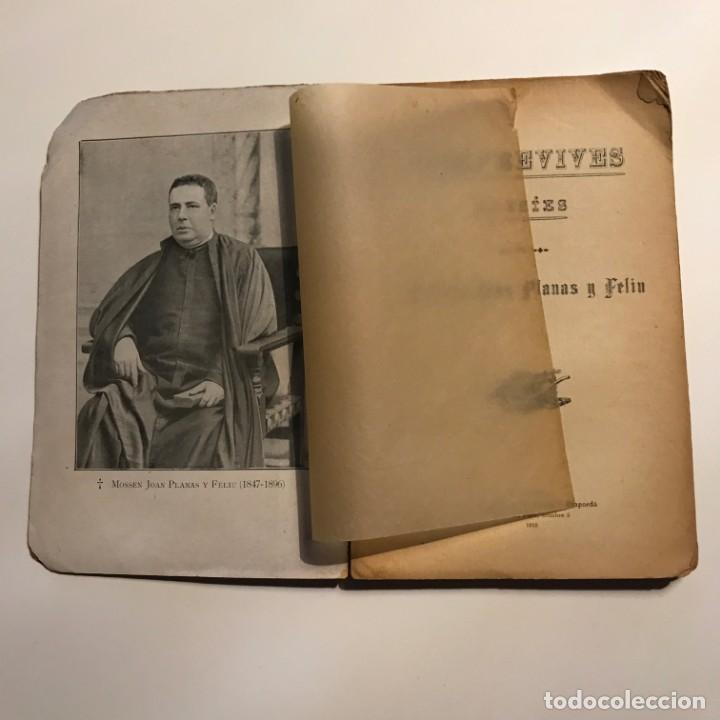 Libros antiguos: Semprevives, poesies Joan Planas y Feliu 1910 Imprempta de La Veu de l'Empordà, Figueres - Foto 2 - 146956478