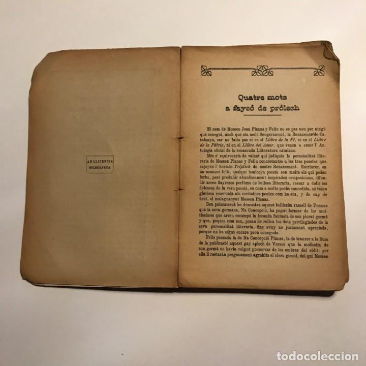 Libros antiguos: Semprevives, poesies Joan Planas y Feliu 1910 Imprempta de La Veu de l'Empordà, Figueres - Foto 4 - 146956478