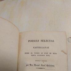 Libros antiguos: POESÍAS SELECTAS CASTELLANAS 1830 TOMO 3. Lote 148221252