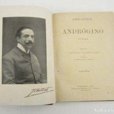 Libros antiguos: ANDRÓGINO, POEMA, JOSÉ ANTICH, 1906, PRÓLOGO SANTIAGO VALENTÍ GAMP, IMP. HENRICH, BARCELONA.. Lote 148746806