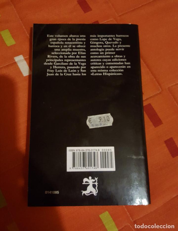Libros antiguos: Poesia Lirica del Siglo de oro Edicion Elias L. Rivers Catedra Letras Hispanas - Foto 2 - 149615418