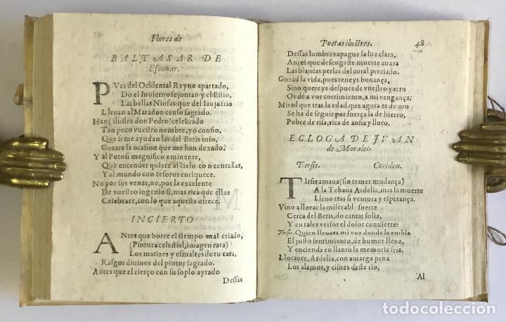 Libros antiguos: PRIMERA PARTE DE LAS FLORES DE POETAS ILUSTRES DE ESPAÑA, dividida en dos libros. Ordenada por... Di - Foto 7 - 109021994