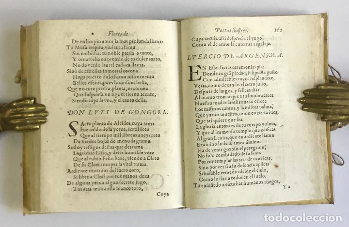 Libros antiguos: PRIMERA PARTE DE LAS FLORES DE POETAS ILUSTRES DE ESPAÑA, dividida en dos libros. Ordenada por... Di - Foto 10 - 109021994