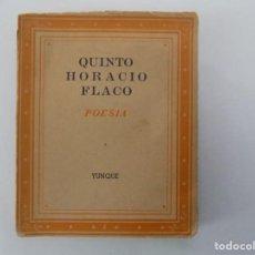 Libros antiguos: LIBRERIA GHOTICA. LIBRO MINIATURA. QUINTO HORACIO FLACO. POESIA. EDITORIAL YUNQUE 1940.. Lote 150287550