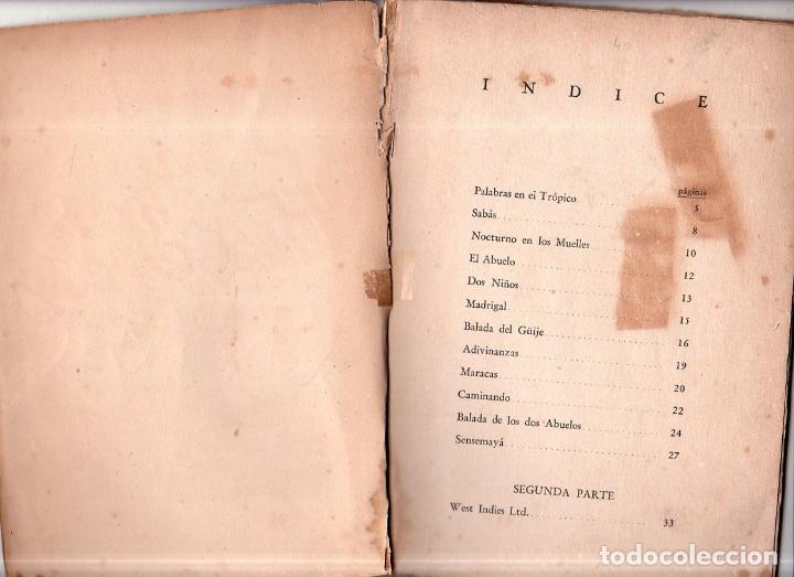 Libros antiguos: WEST YNDIES LTD. 1ª ED. NICOLÁS GUILLÉN. POEMAS. LA HABANA,CUBA. 1934. DEDICATORIA Y FIRMA DEL AUTOR - Foto 5 - 150913394
