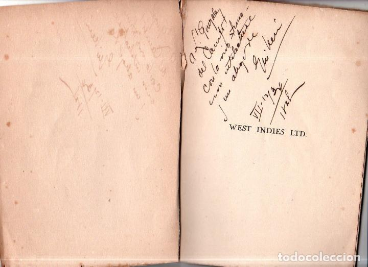 Libros antiguos: WEST YNDIES LTD. 1ª ED. NICOLÁS GUILLÉN. POEMAS. LA HABANA,CUBA. 1934. DEDICATORIA Y FIRMA DEL AUTOR - Foto 2 - 150913394