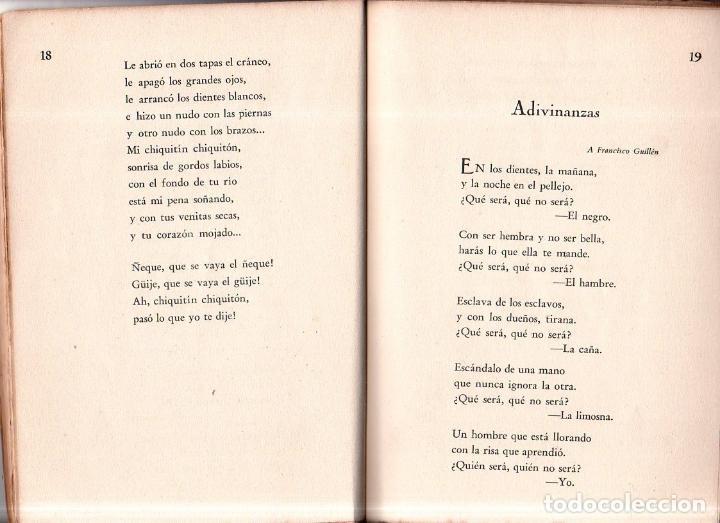 Libros antiguos: WEST YNDIES LTD. 1ª ED. NICOLÁS GUILLÉN. POEMAS. LA HABANA,CUBA. 1934. DEDICATORIA Y FIRMA DEL AUTOR - Foto 4 - 150913394