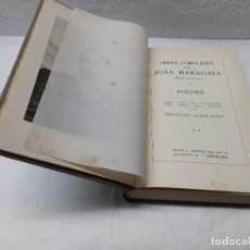 Libros antiguos: JOAN MARAGALL POESIES. Lote 151357794