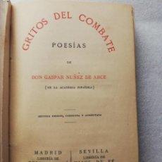Libros antiguos: GRITOS DEL COMBATE GASPAR NUÑEZ DE ARCE DE 1880. Lote 151913918