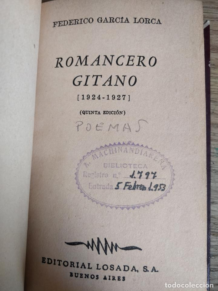 Libros antiguos: FEDERICO GARCIA LORCA, CANCIONERO GITANO - Foto 2 - 151955630