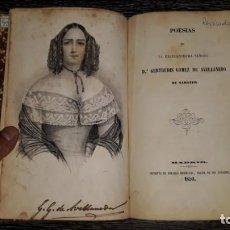 Libros antiguos: POESIAS DE GERTRUDIS GOMEZ DE AVELLANEDA 1950 AUTOBIOGRAFIADA. Lote 153269858