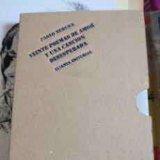 Libros antiguos: PABLO NERUDA. VEINTE POEMAS DE AMOR Y UNA CANCIÓN DESESPERADA - EDITORIAL ALIANZA. TAPA DURA EN TEL. Lote 153347158