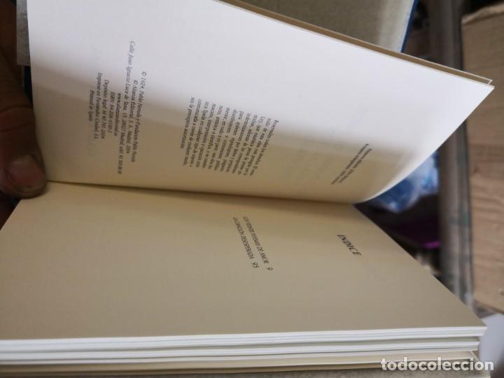 Libros antiguos: PABLO NERUDA. VEINTE POEMAS DE AMOR Y UNA CANCIÓN DESESPERADA - EDITORIAL ALIANZA. TAPA DURA EN TEL - Foto 5 - 153347158
