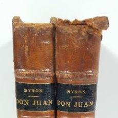 Libros antiguos: 2 TOMOS. DON JUAN. POEMA. LORD BYRON. MADRID. 1876.. Lote 153347758