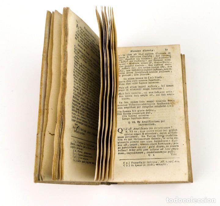 Libros antiguos: Joshepo Juvencio- De Arte Rhetorica-Libro tapas de pergamino- año 1.774 - Foto 5 - 153571278