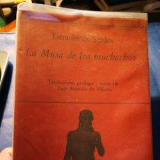 Libros antiguos: LA MUSA DE LOS MUCHACHOS - ESTRATON DE SARDES - LUIS ANTONIO DE VILLENA - POESIA HIPERION. Lote 154733762