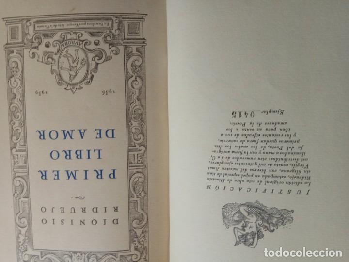 Libros antiguos: Primer libro de amor. 1935-1939. DIONISIO Ridruejo. - Foto 4 - 157229378