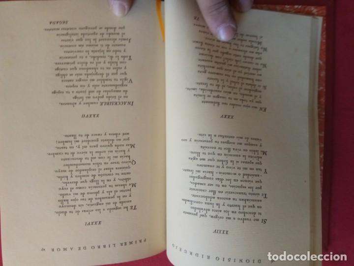 Libros antiguos: Primer libro de amor. 1935-1939. DIONISIO Ridruejo. - Foto 5 - 157229378