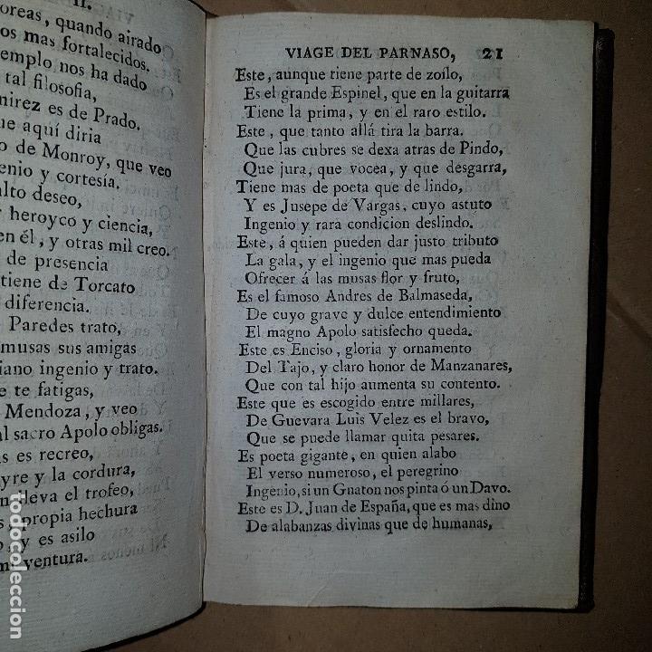 Libros antiguos: 1805 - Cervantes - Viaje del Parnaso - Foto 8 - 144909974