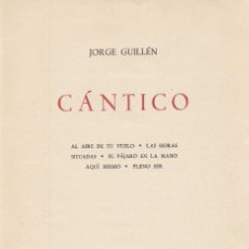 Alte Bücher - JORGE GUILLEN. Cántico. 2ª ed. aumentada. Madrid, Cruz y Raya, 1936 - 159376986