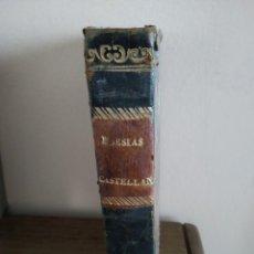 Libros antiguos: POESÍAS CASTELLANAS TRADUCIDAS AL VERSO TOSCANO. Lote 160835390