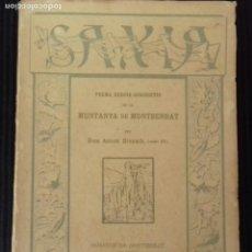 Libros antiguos: SAXIA. MONESTIR DE MONTSERRAT 1927. PER DOM ANTONI BRENACH( SEGLE XVI). Lote 162644210