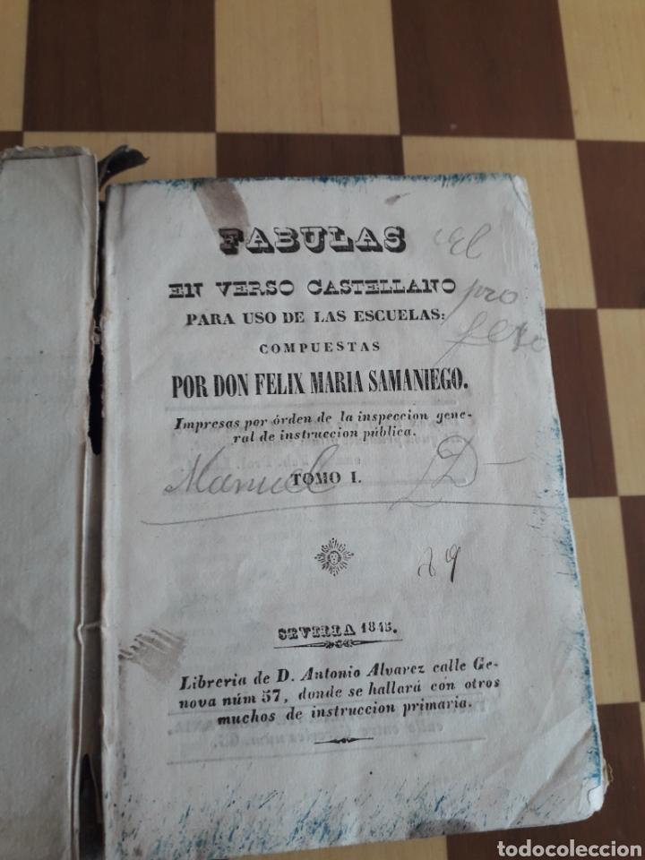 Libros antiguos: Libro Fábulas en verso castellano para uso de las escuelas compuestas Felix María Samaniego - Foto 4 - 163047493