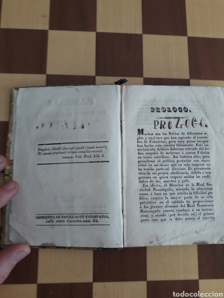 Libros antiguos: Libro Fábulas en verso castellano para uso de las escuelas compuestas Felix María Samaniego - Foto 5 - 163047493
