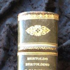 Libros antiguos: 1791 - BERTOLDO BERTOLDINO Y CACASENO - ILUSTRADO CON GRABADOS - COMPLETO. Lote 163383152