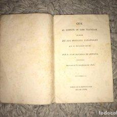 Libros antiguos: ODA AL COMBATE DE CABO TRAFALGAR. JUAN BAUTISTA DE ARRIAZA. 1806. IMPRENTA REAL. Lote 163802794