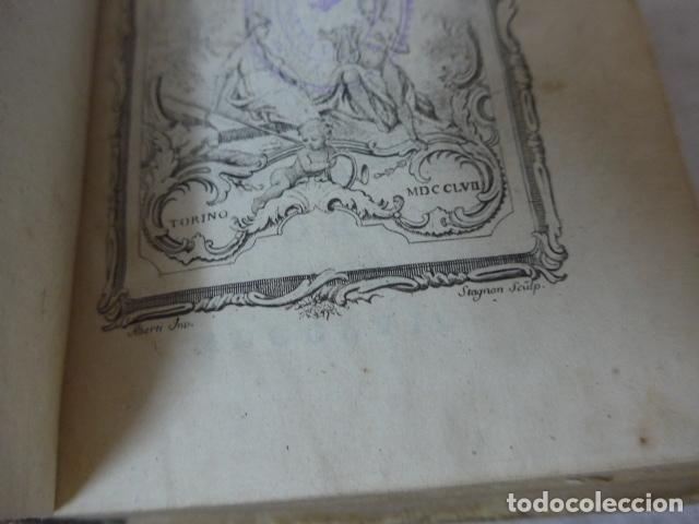 Libros antiguos: Antiguo libro de pergamino de poesia de 1757. Poesie del signor abate pietro metastasio. Original - Foto 7 - 164764222