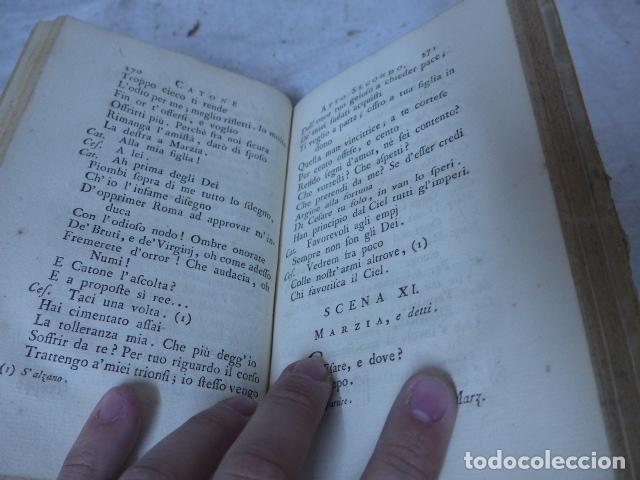 Libros antiguos: Antiguo libro de pergamino de poesia de 1757. Poesie del signor abate pietro metastasio. Original - Foto 15 - 164764222