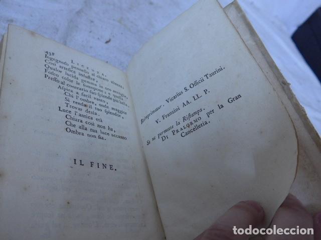 Libros antiguos: Antiguo libro de pergamino de poesia de 1757. Poesie del signor abate pietro metastasio. Original - Foto 16 - 164764222