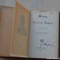 Libros antiguos: LIBRO DE POESÍA ALEMÁN FRIEDRICH RÜCKERT 1892. Lote 164844294