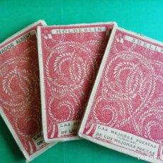 Libros antiguos: LASMEJORES POESIAS -LIRICAS- DE LOS MEJORES POETAS AÑO 1932. Lote 165449402
