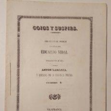 Libros antiguos: GOIGS Y SUSPIRS COL-LECCIO DE POESIAS DE EDUARDO VIDAL 1861 VILAFRANCA PENEDES. Lote 165816950