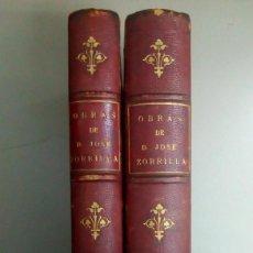 Livres anciens: OBRAS POETICAS Y DRAMATICAS DE JOSE ZORRILLA, AÑO 1893, L11542. Lote 166923088