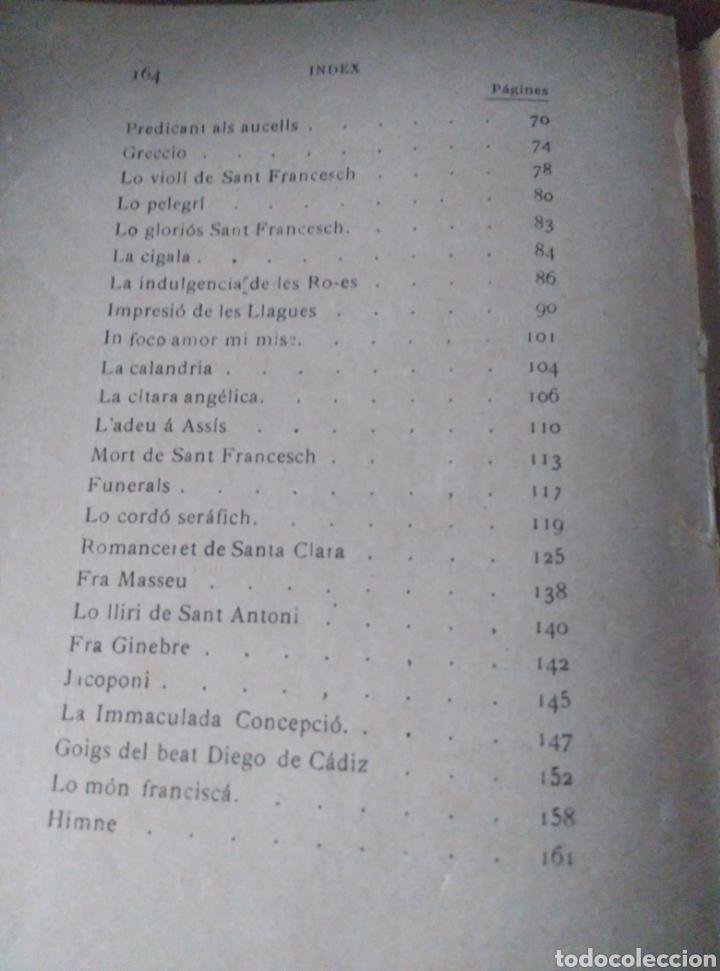 Libros antiguos: Jacinto Verdaguer. Sant Francesch. Poema. Barcelona Llibreria de Francisco Puig 1904 - Foto 4 - 167543630