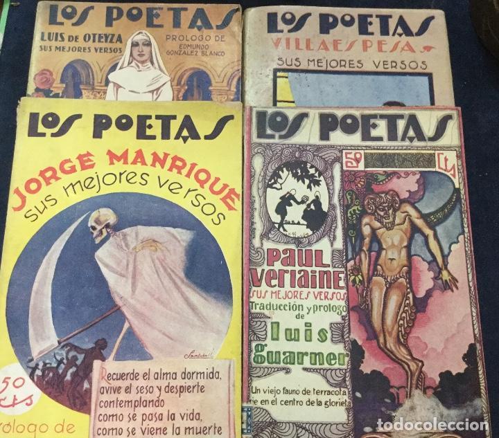 LOS POETAS - FRANCISCO VILLAESPESA - JORGE MANRIQUE - LUIS DE OTEYZA - PAUL VERLAINE (Libros antiguos (hasta 1936), raros y curiosos - Literatura - Poesía)
